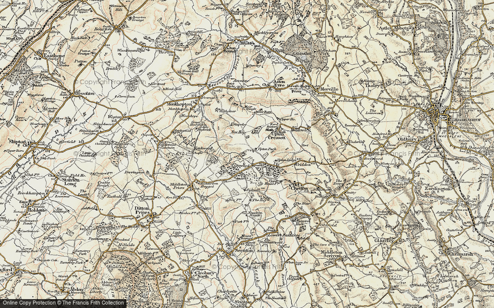Old Map of Lightwood, 1902 in 1902