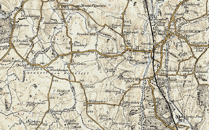 Old map of Lightwood Green in 1902