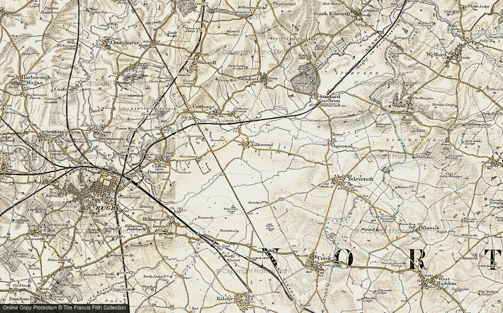 Old Map of Lilbourne, 1901-1902 in 1901-1902