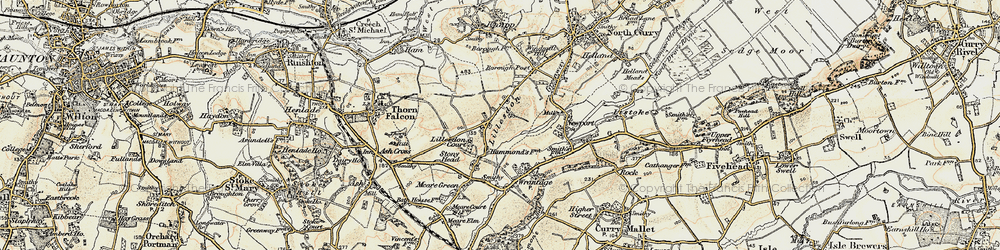 Old map of Lillesdon in 1898-1900