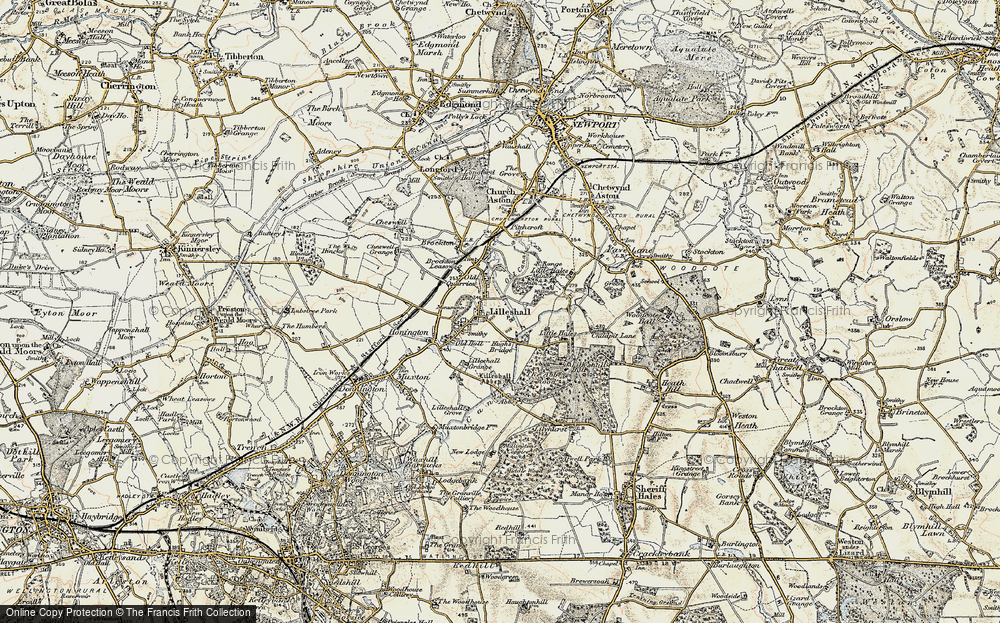 Old Map of Lilleshall, 1902 in 1902