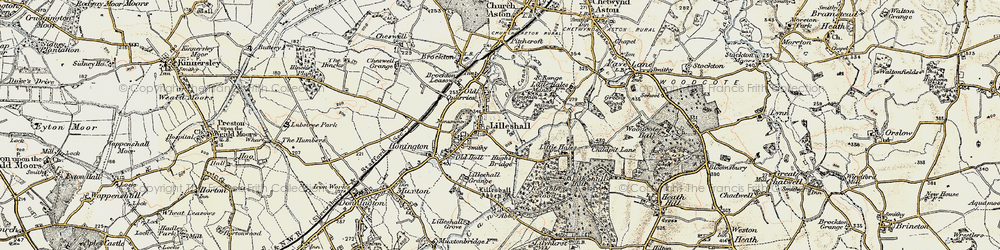 Old map of Lilleshall in 1902