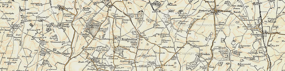 Old map of Whitelands in 1897-1900