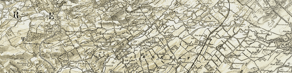 Old map of Alewater House in 1901-1904