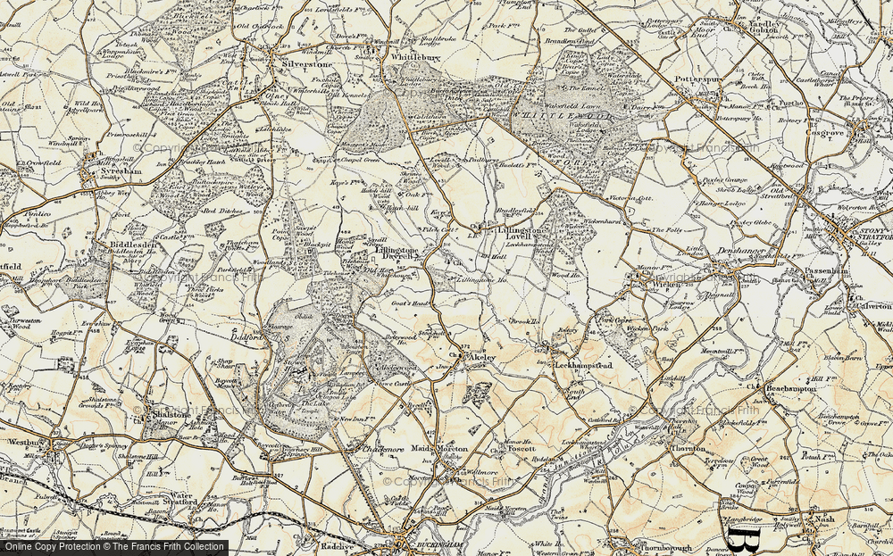 Old Map of Historic Map covering Tilehouse Wood in 1898-1901