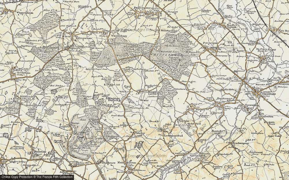 Old Map of Lillingstone Lovell, 1898-1901 in 1898-1901