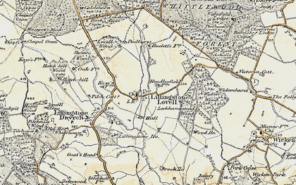 Old map of Leckhampstead Wood in 1898-1901