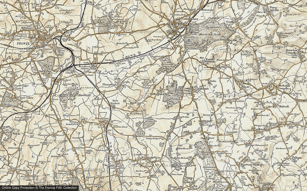 Old Map of Lillington, 1899 in 1899