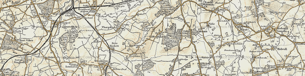 Old map of Lillington in 1899