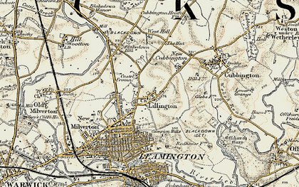 Old map of Lillington in 1901-1902