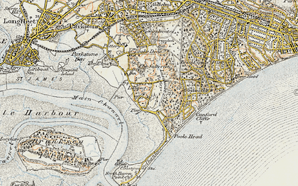 Old map of Lilliput in 1899-1909