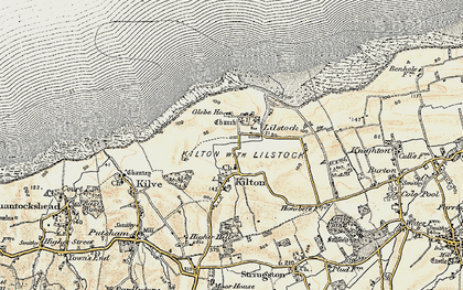 Old map of Lilstock in 1898-1900