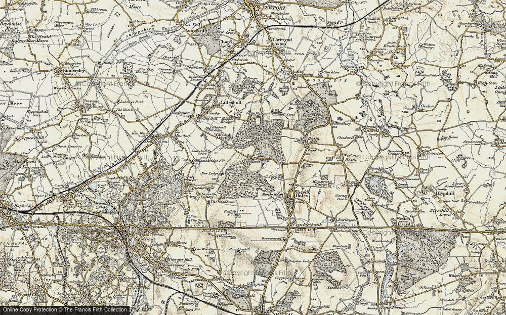 Old Map of Historic Map covering Abbey Wood in 1902