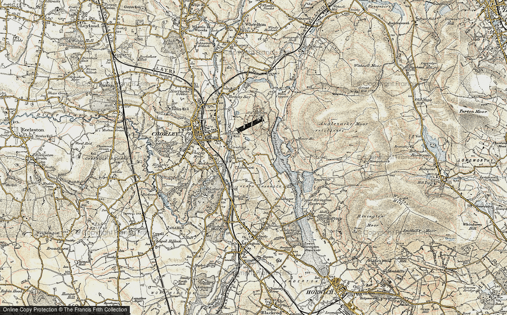 Old Map of Limbrick, 1903 in 1903