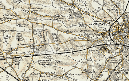 Old map of Lime Tree Park in 1901-1902