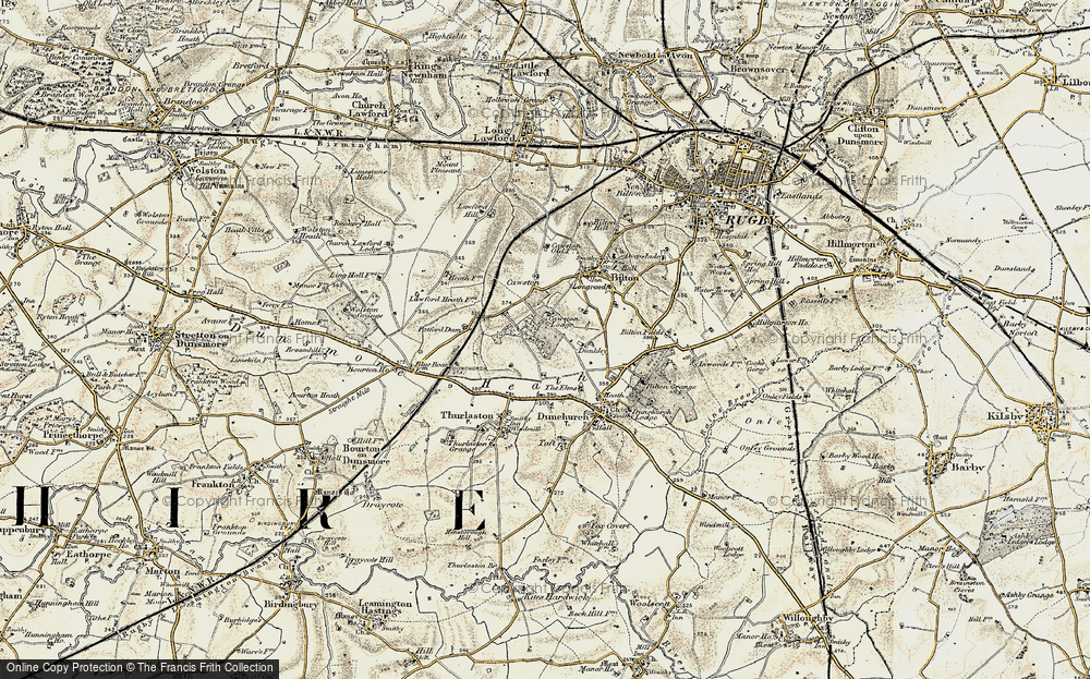 Old Map of Lime Tree Village, 1901-1902 in 1901-1902