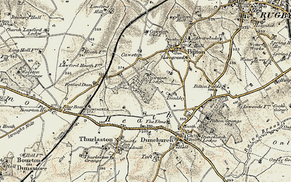 Old map of Lime Tree Village in 1901-1902
