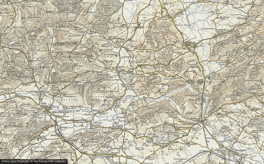 Old Map of Limebrook, 1901-1903 in 1901-1903