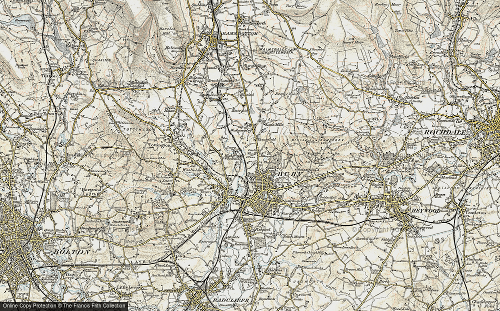 Old Map of Limefield, 1903 in 1903