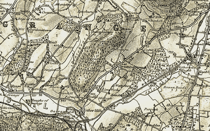 Old map of Limehillock in 1910