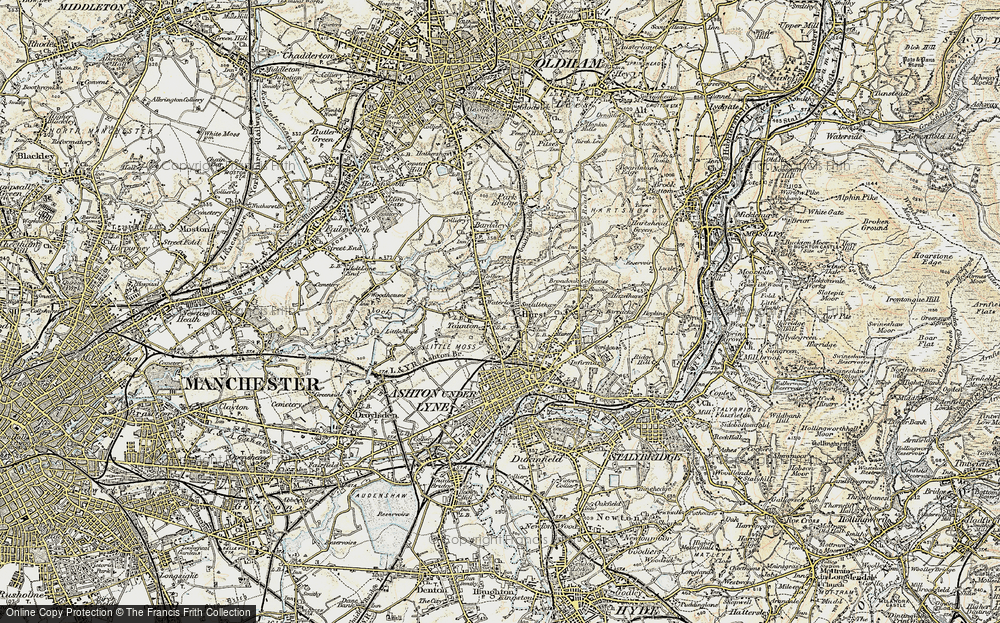 Old Map of Limehurst, 1903 in 1903