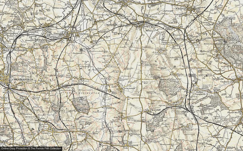 Old Map of Limekiln Field, 1902-1903 in 1902-1903