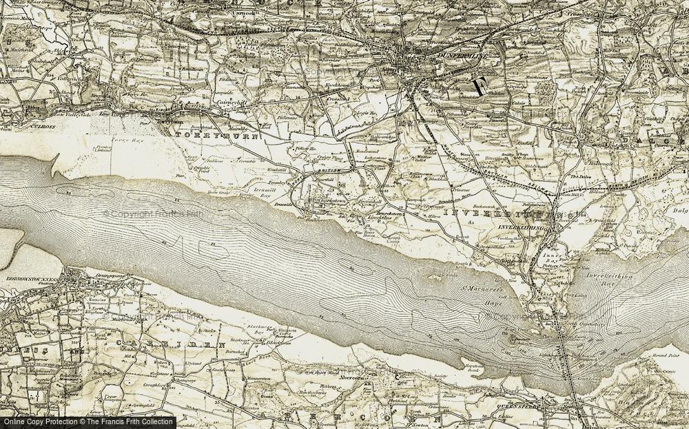 Old Map of Limekilns, 1904-1906 in 1904-1906