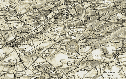 Old map of Limerigg in 1904-1905