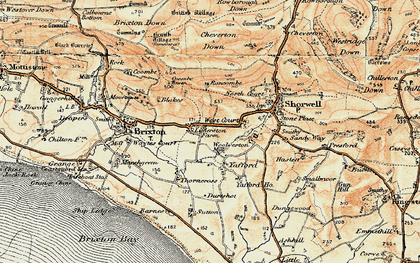 Old map of Limerstone in 1899-1909
