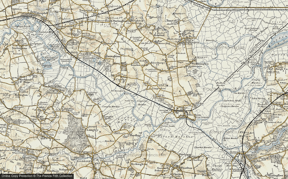 Old Map of Limpenhoe, 1901-1902 in 1901-1902