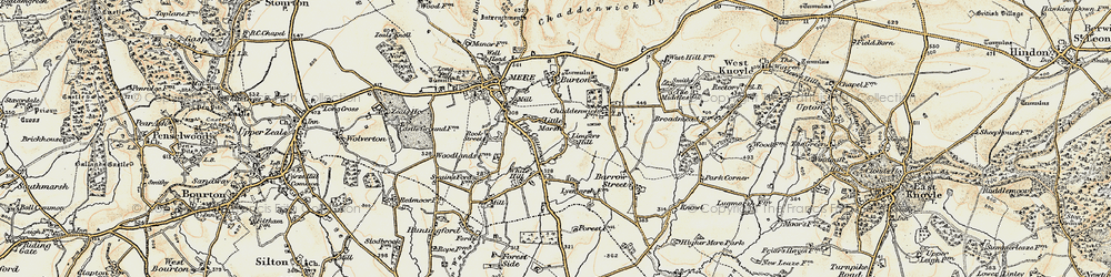 Old map of Limpers Hill in 1897-1899