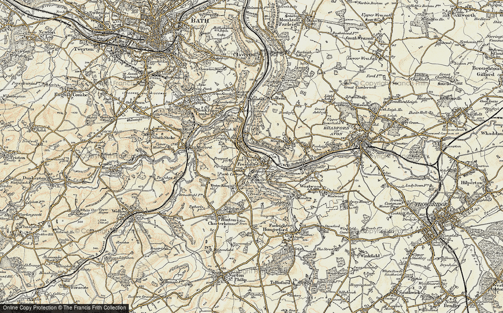 Old Map of Limpley Stoke, 1898-1899 in 1898-1899