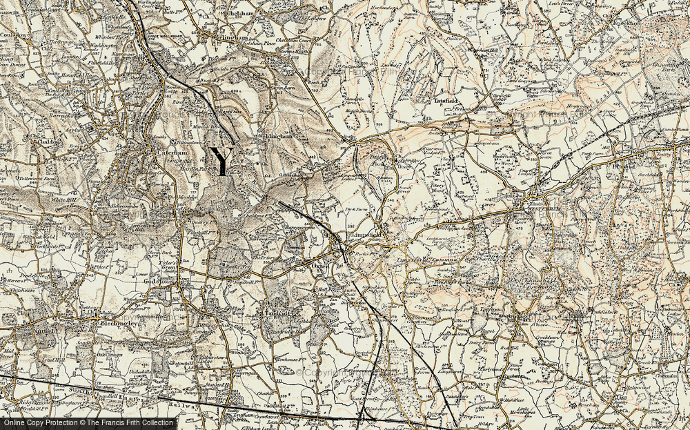 Old Map of Limpsfield, 1898-1902 in 1898-1902