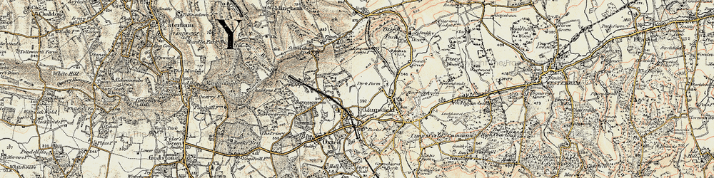 Old map of Limpsfield in 1898-1902
