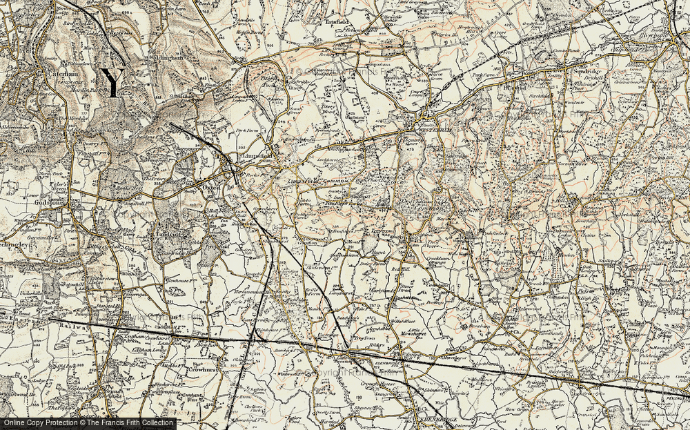 Old Map of Limpsfield Chart, 1898-1902 in 1898-1902