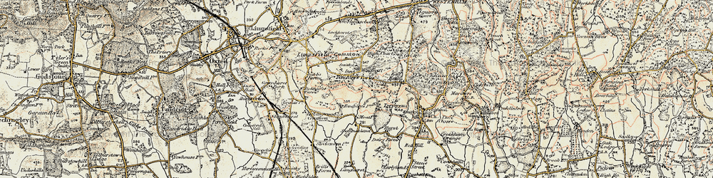 Old map of Limpsfield Chart in 1898-1902