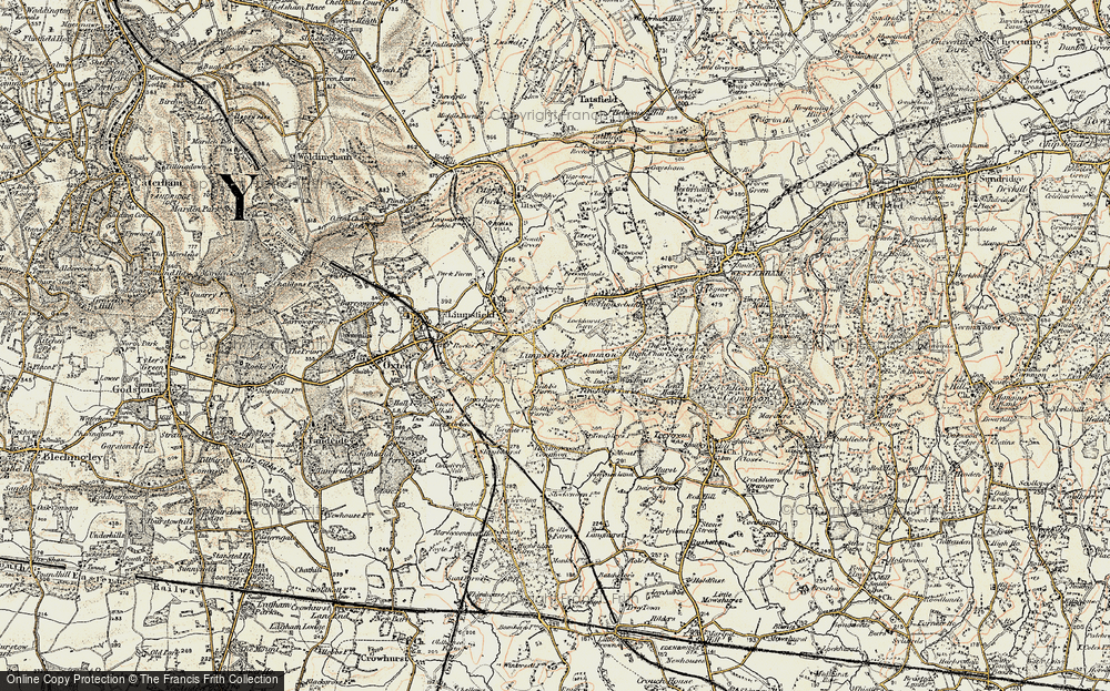 Old Map of Limpsfield Common, 1898-1902 in 1898-1902