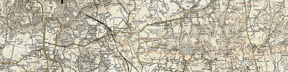 Old map of Limpsfield Common in 1898-1902