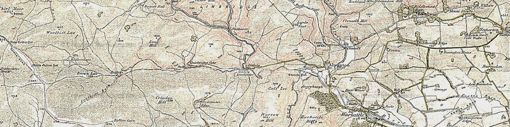 Old map of Witch Crags in 1901-1903