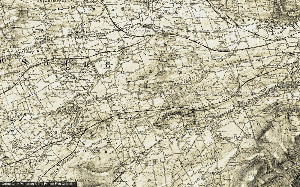 Old Map of Linburn, 1903-1904 in 1903-1904