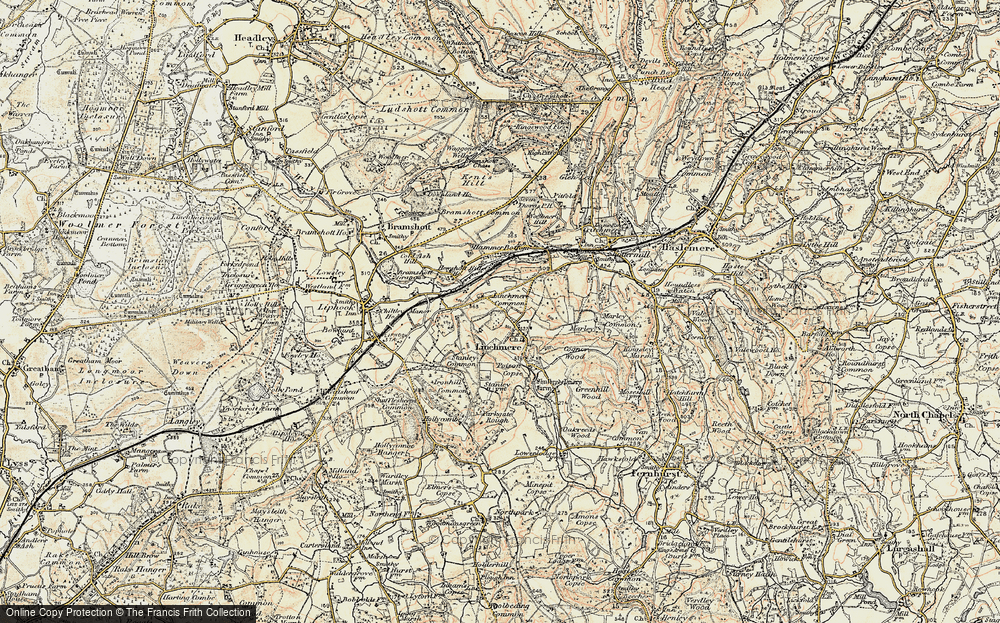 Old Map of Historic Map covering Linchmere Common in 1897-1900