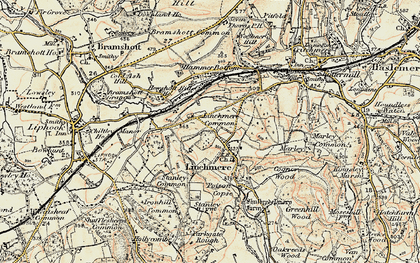 Old map of Linchmere in 1897-1900