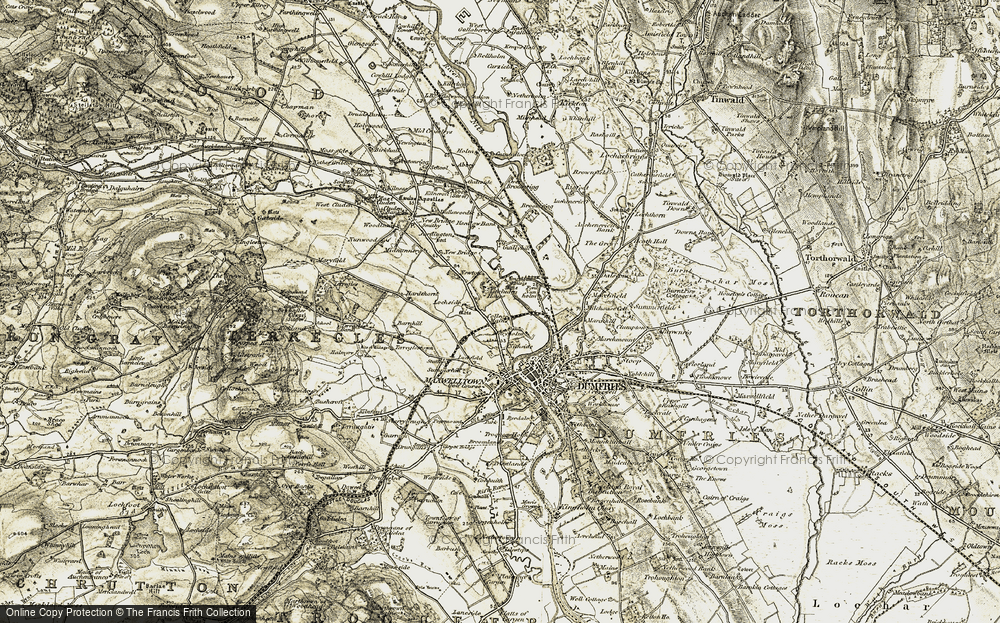 Old Map of Lincluden, 1901-1905 in 1901-1905
