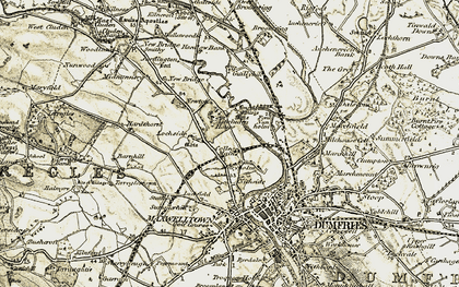 Old map of Lincluden in 1901-1905