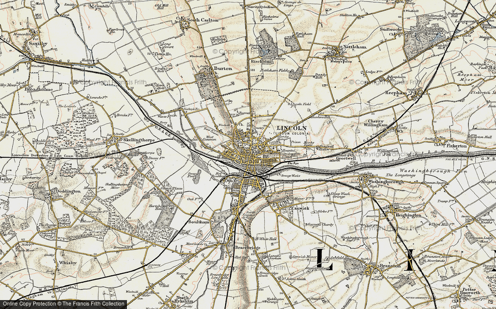 Old Map of Lincoln, 1902-1903 in 1902-1903