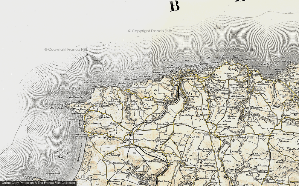 Old Map of Lincombe, 1900 in 1900