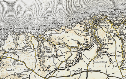 Old map of Lincombe in 1900