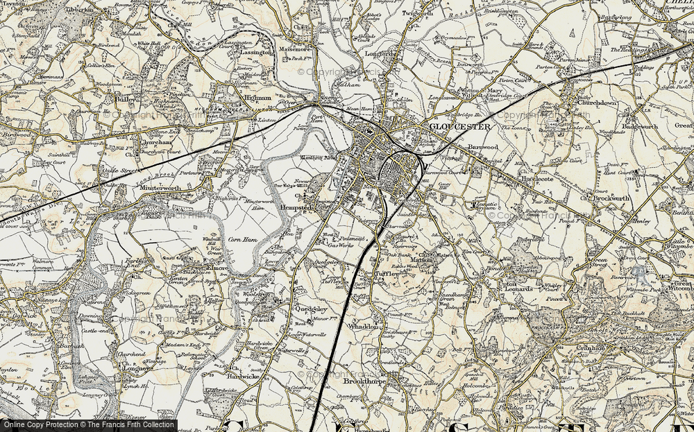 Old Map of Linden, 1898-1900 in 1898-1900