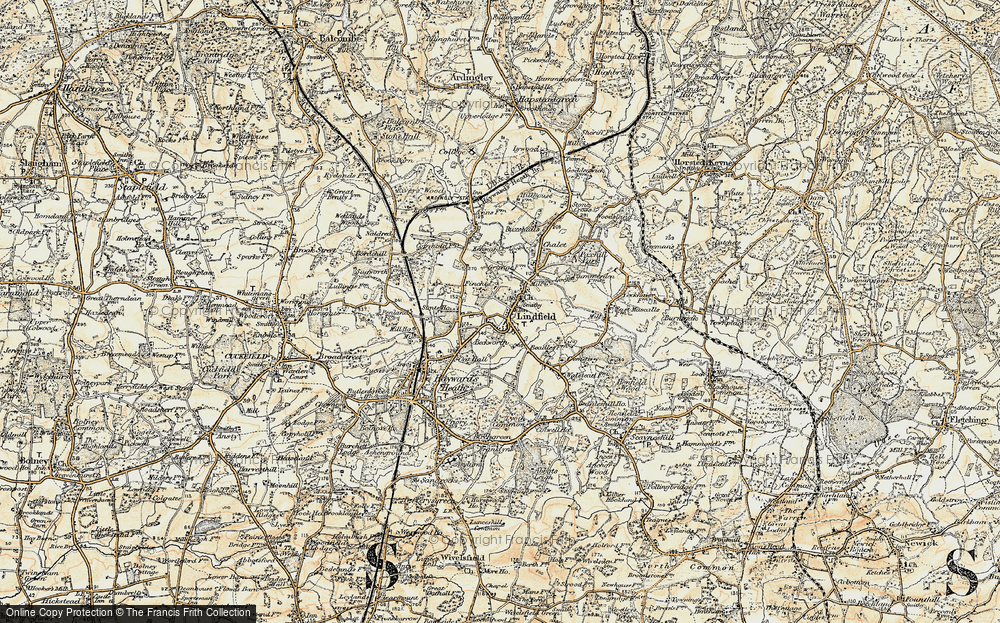 Old Map of Lindfield, 1898 in 1898