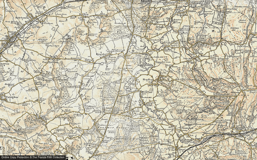 Old Map of Lindford, 1897-1909 in 1897-1909